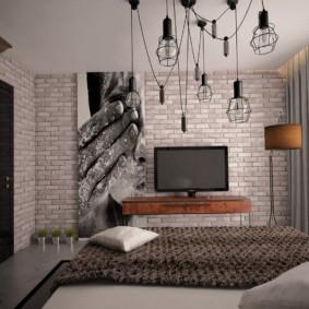 chambre à coucher 8 m² décor