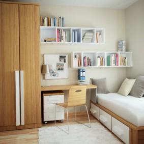 chambre à coucher 8 m² photo espèces