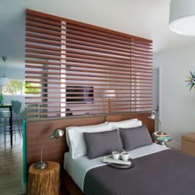 phòng khách và phòng ngủ trong một phòng thiết kế nội thất