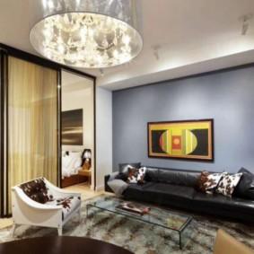 phòng khách và phòng ngủ trong một phòng ý tưởng hình ảnh