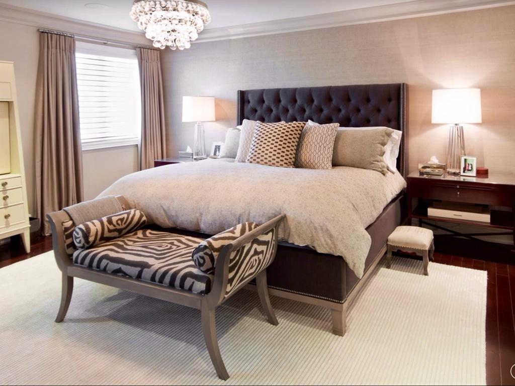 décoration photo chambre beige