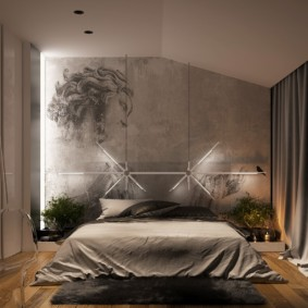 photo intérieure de la chambre beige