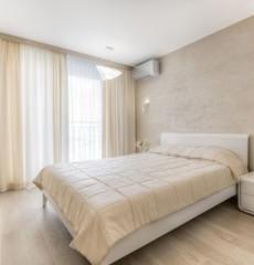 רעיונות פנים לחדר שינה בצבע בז '