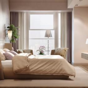 vue sur la chambre beige