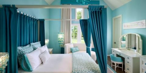 intérieur photo chambre turquoise