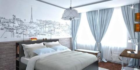 Photo de décoration de chambre scandinave