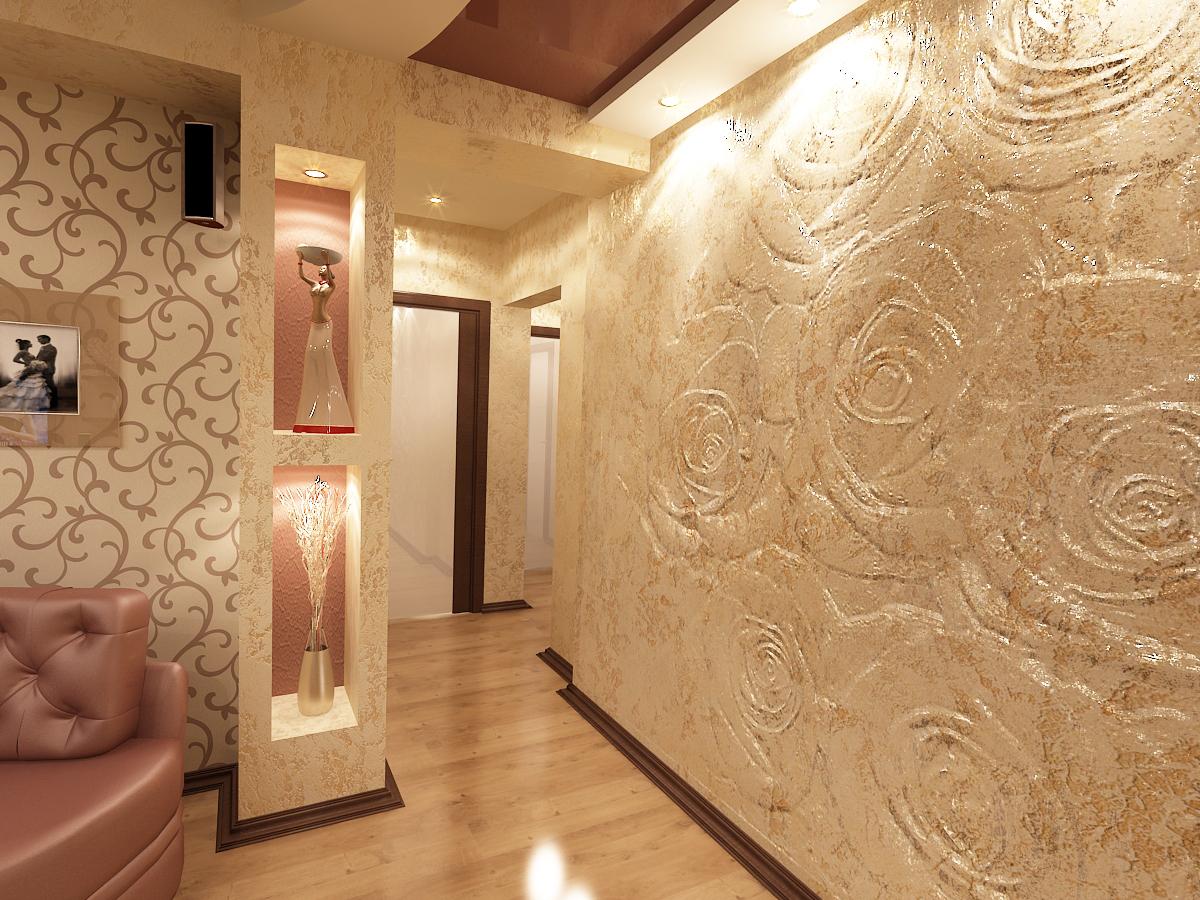 papier peint liquide dans le couloir des roses