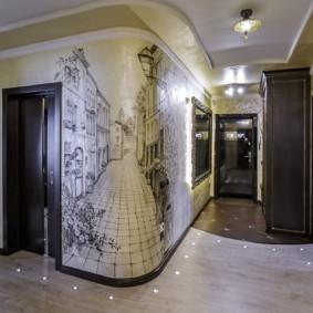 photo de décoration murale couloir