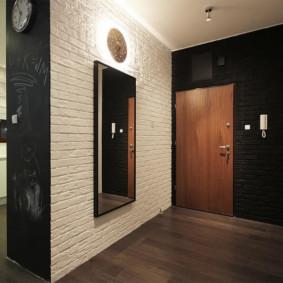 photo de conception de mur de couloir