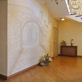 décoration murale photo couloir