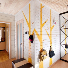 murs dans les vues du couloir
