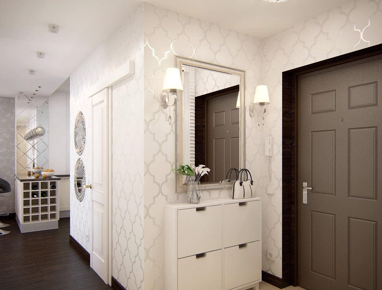 les murs du couloir sont blancs