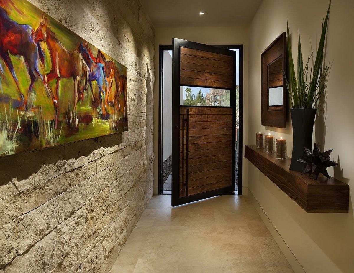 murs dans le couloir