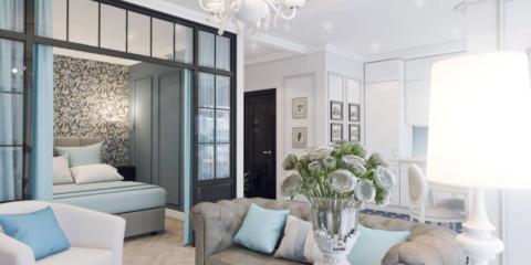 style néoclassique à l'intérieur du design photo de l'appartement
