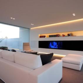photo de conception de salon de haute technologie