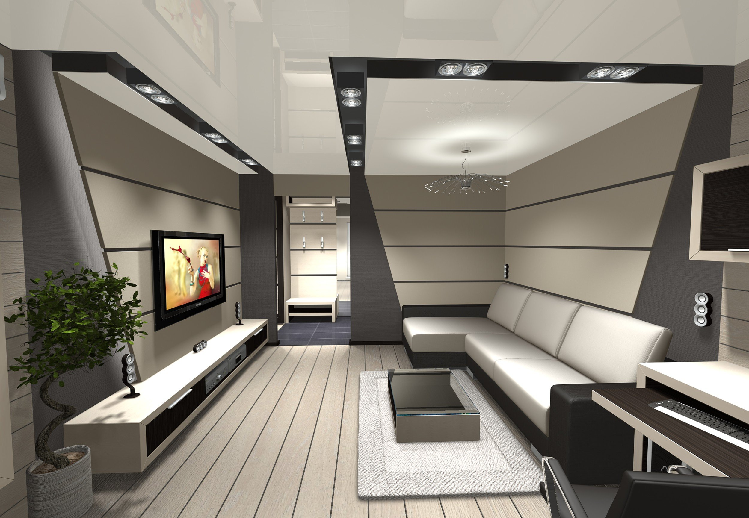 conception de salon de haute technologie
