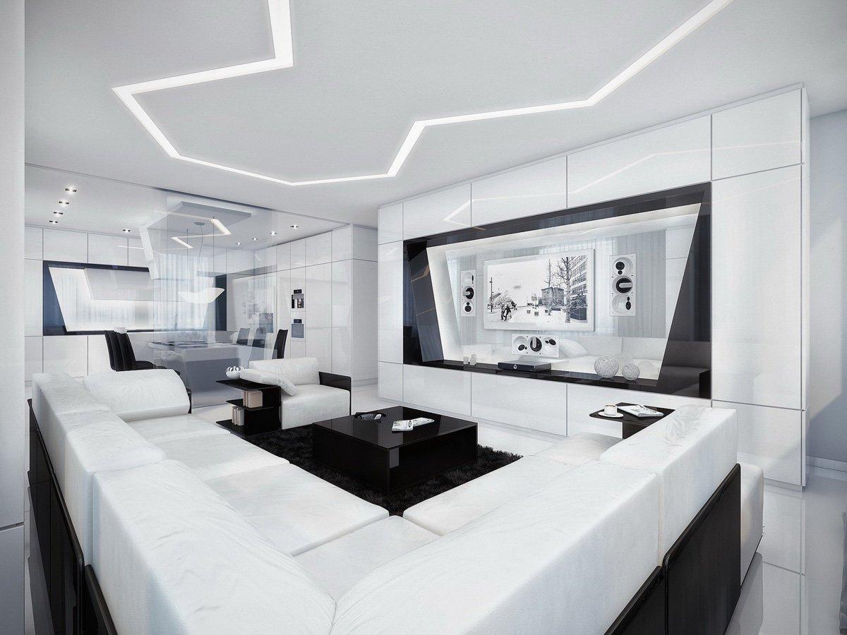 salon de style high-tech