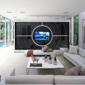 idées de conception de salon de haute technologie