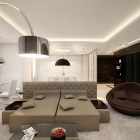 intérieur de salon de haute technologie