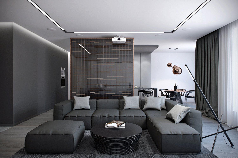 photo d'intérieur du salon high-tech