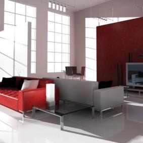 idées d'intérieur de salon de haute technologie