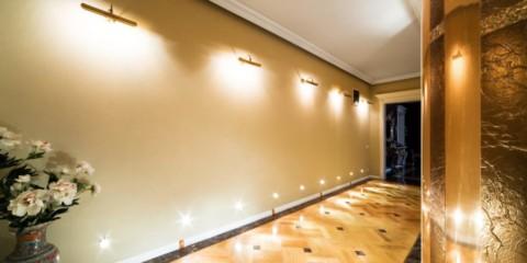 lumières dans le couloir vues photo