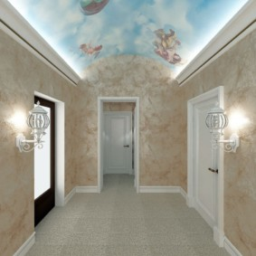papier peint liquide dans la lumière du couloir