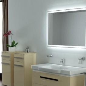 Op Welke Hoogte Hang Ik Een Spiegel In De Badkamer Boven De Gootsteen Vanaf De Vloer Normen En Types