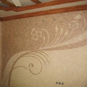 papier peint liquide dans le décor du couloir