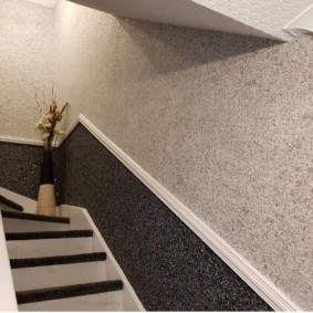papier peint liquide dans les idées de décoration de couloir