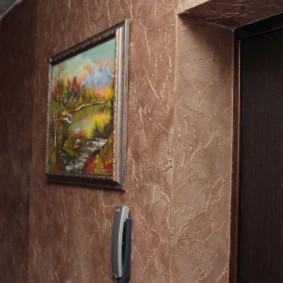 papier peint liquide dans le décor photo du couloir