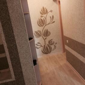 papier peint liquide dans le couloir photo intérieur