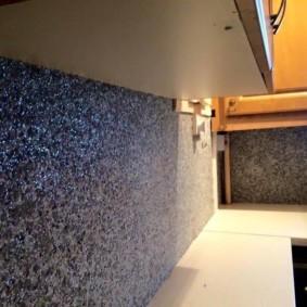 papier peint liquide dans les options de photo de couloir