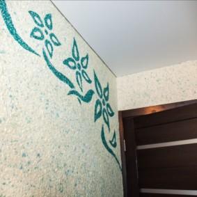 papier peint liquide dans le couloir idées photo