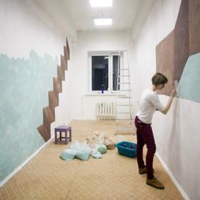 papier peint liquide à l'intérieur des idées de couloir