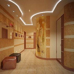 papier peint liquide à l'intérieur du couloir