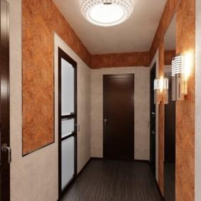 papier peint liquide dans les idées intérieures de couloir