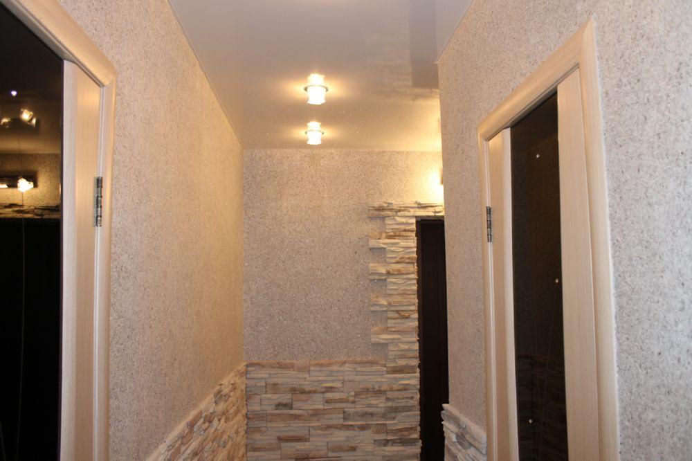 papier peint liquide dans le couloir du couloir