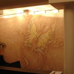 papier peint liquide dans les options de couloir