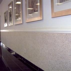 papier peint liquide dans le couloir types de photos