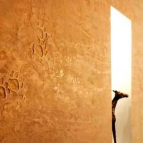 papier peint liquide dans le couloir