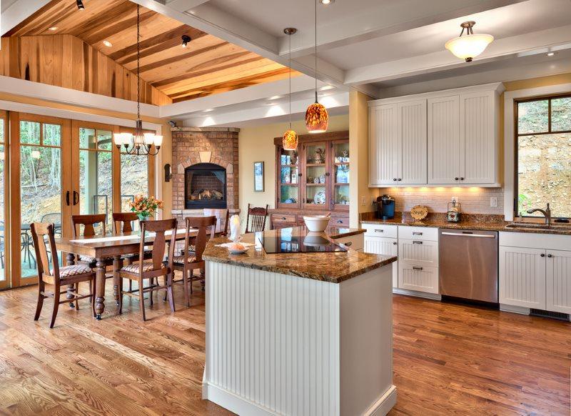فصل سقف غرفة الطعام في المطبخ