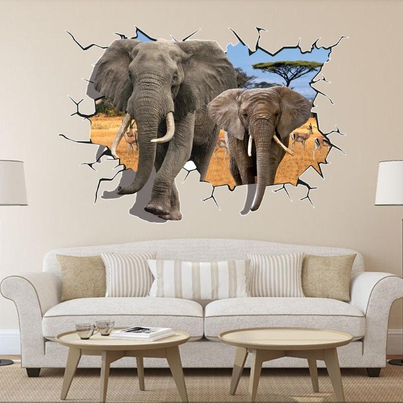 Autocollant créatif de décoration murale de salon