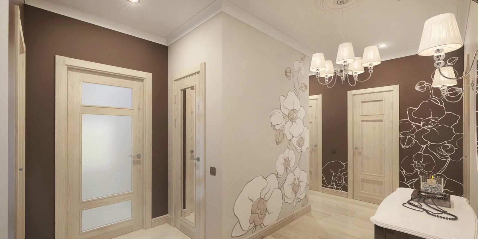 papier peint couloir