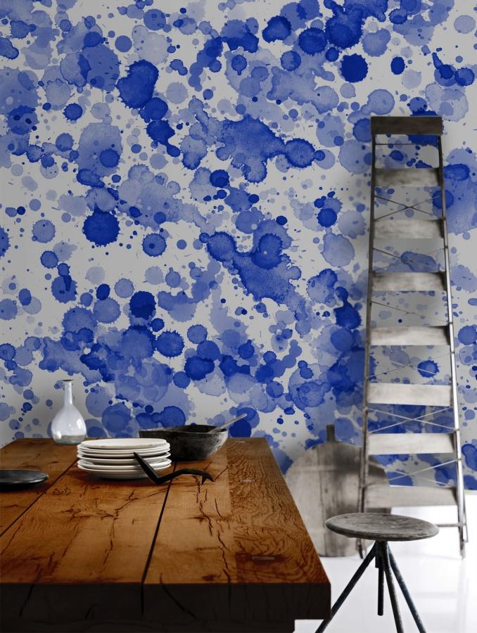 Dessin abstrait de peintures sur un mur de cuisine