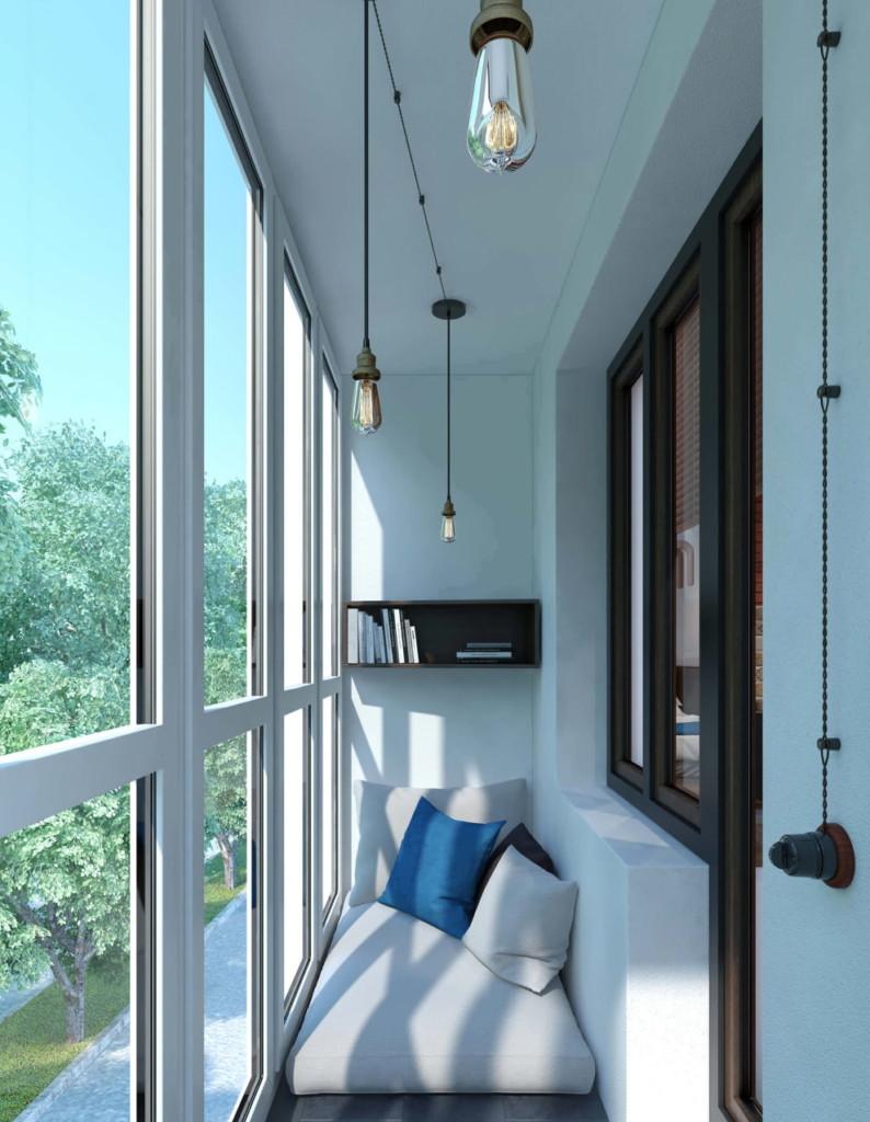 Suspensions au plafond du balcon