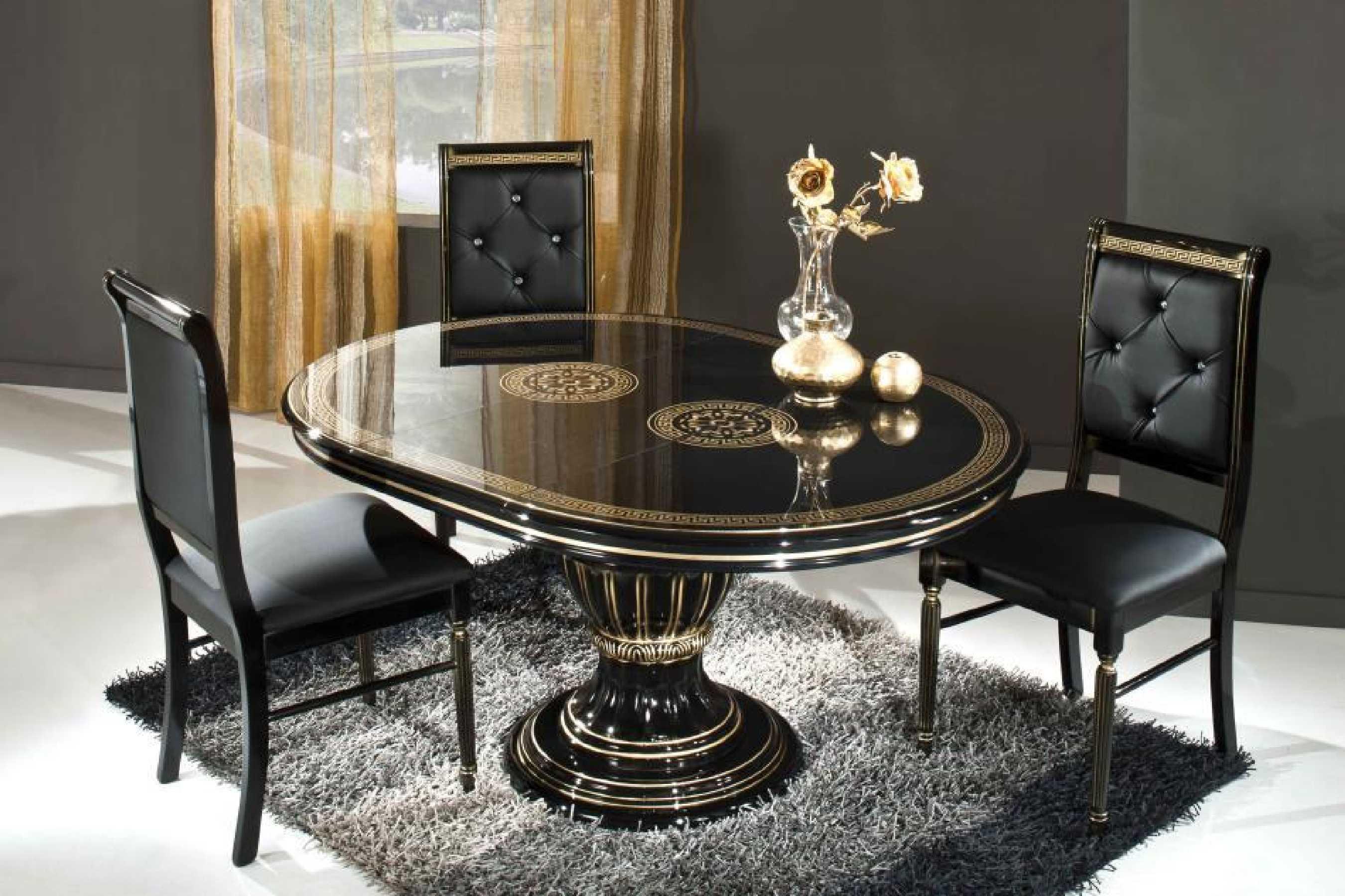 table noire sur une jambe pour la cuisine