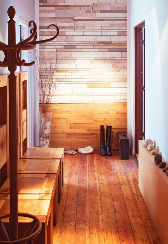 plancher de couloir en bois