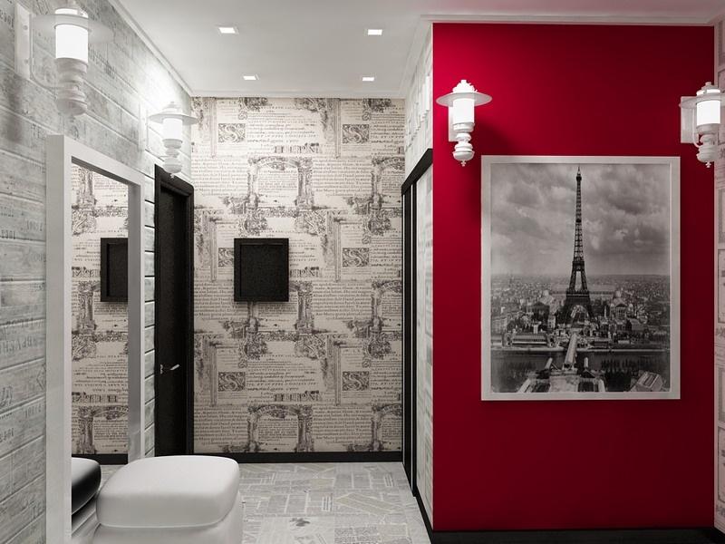 conception de couloir dans l'appartement