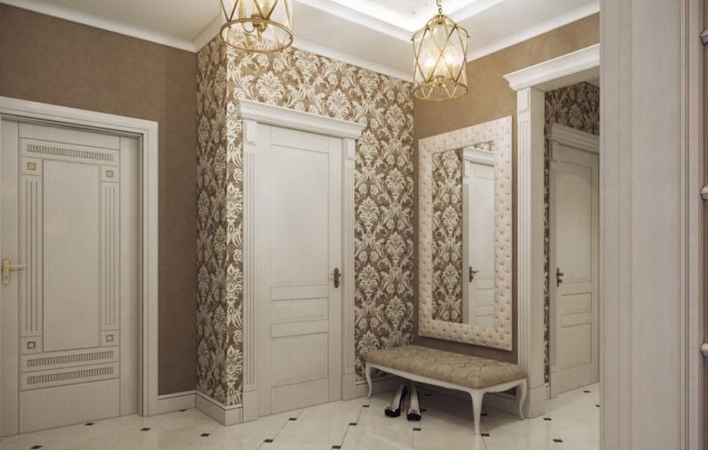 conception de papier peint couloir